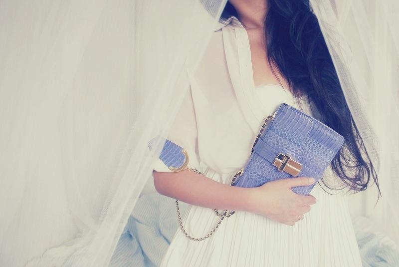AJ lilac summer clutch purse