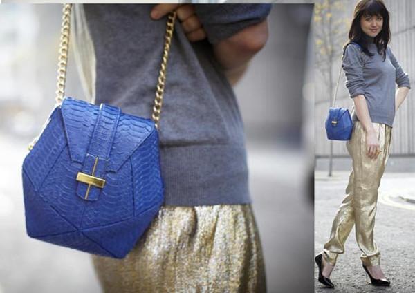 Alannah_Sparks__Acting_Fashion_Editor_ELLE UK_Angel Jackson blue handbags