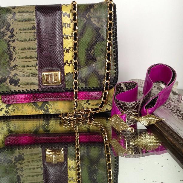angel jackson leather handbag