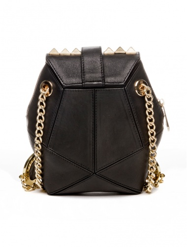 black leather bag_rear view by angel jackson