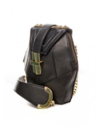 black leather bag_side view by angel jackson