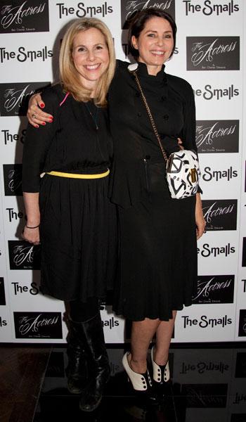 sadie frost wears angel jackson atomic handbag at the premier of her new film