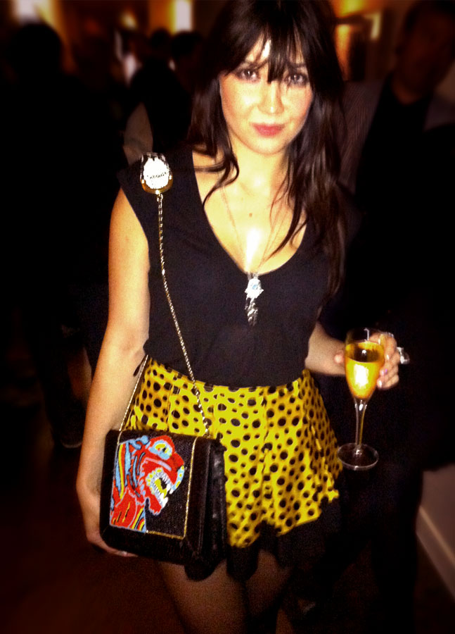 Daisy Lowe-tiger satchel