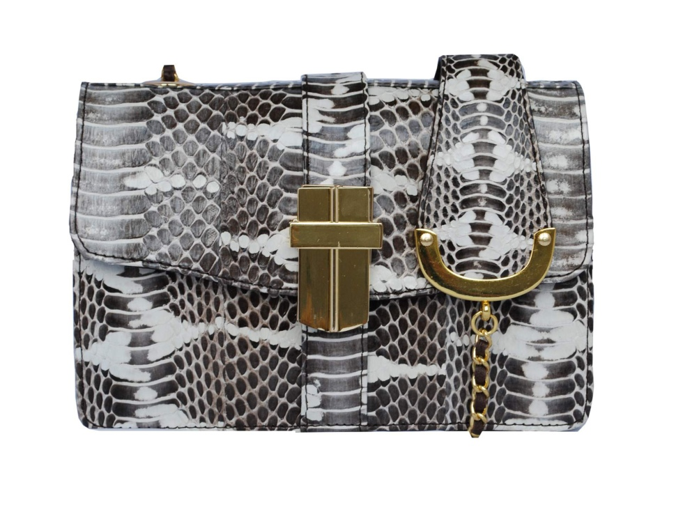 ANGEL JACKSON -SNAKESKIN MINI BAG -python-