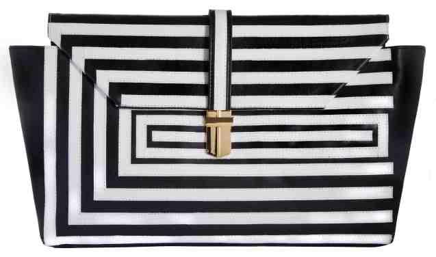 Angel Jackson-Optical-clutch-large-sides-black-white