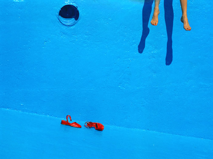 #blue #fashion #GuyBourdin #style #photography