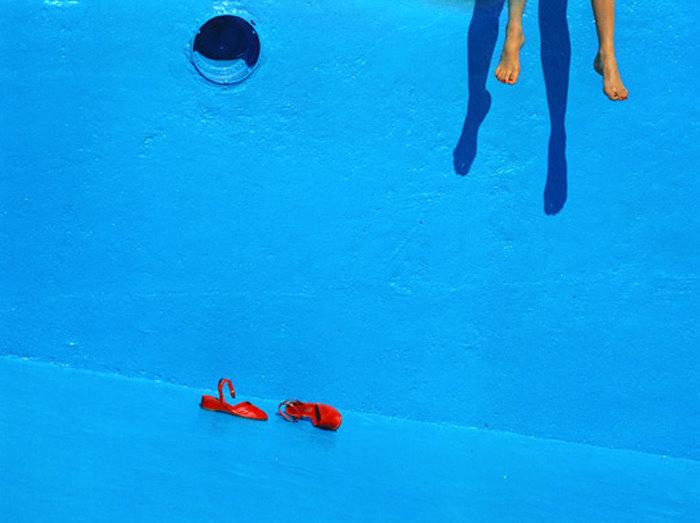 #blue #fashion #GuyBourdin #style #photography