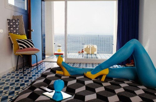 #blue #interior #design #style #fashion #BarbaraMetz #EveRancine