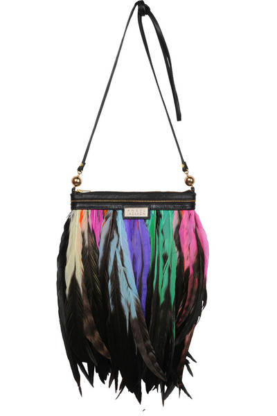 mini festival bright feather luxe bag
