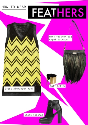 mini feather bag luxe trend black angel jackson how to wear punk