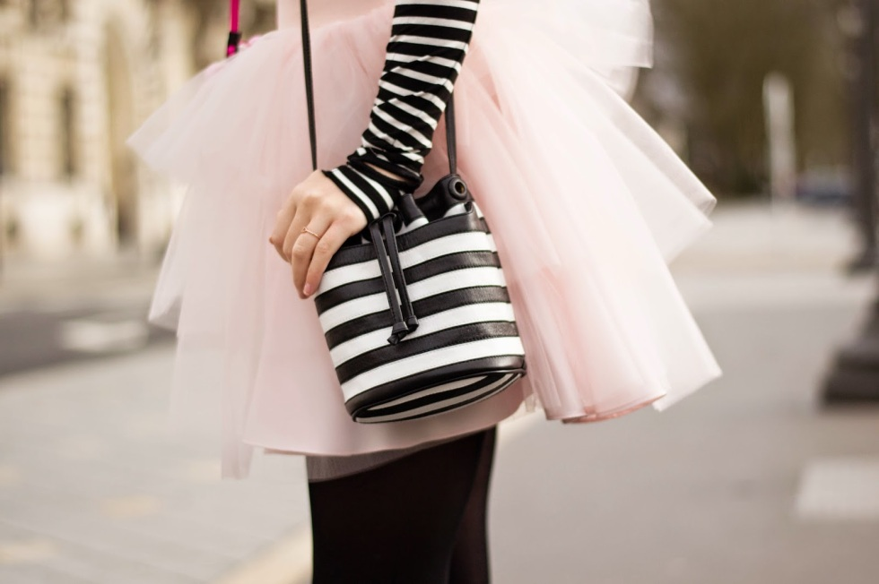monchrome mini leather duffel bag striped meet me in parse french trench ss15 fashion handbag